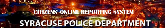 Syracuse Police Department - Report a Crime